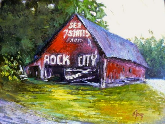 Painting Workshop: Carol Schiff's See Rock City