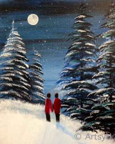 Painting Workshop: Winter Spruce