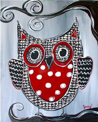 Painting Workshop: Red and White Owl