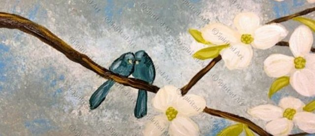 Painting Workshop: Dogwood Love Birds