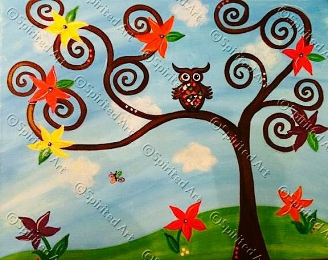 Painting Workshop: Colorful Owl