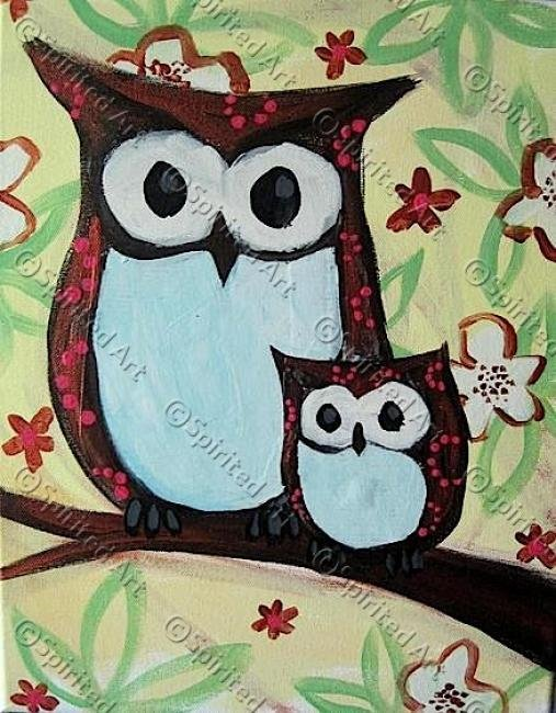 Painting Workshop: Family Class - Owls