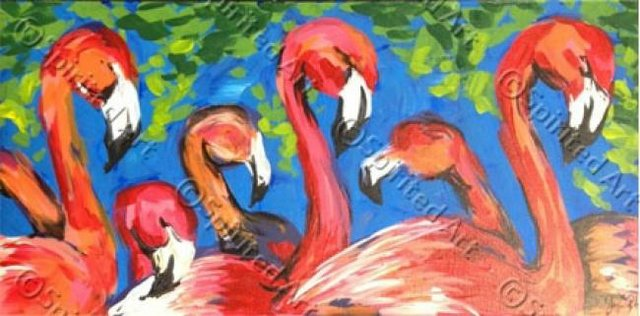 Painting Workshop: Flamingos