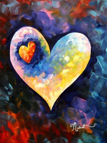 Painting Workshop: A Heartbeat Away - Original by Megan Duncanson©