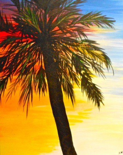 Painting Workshop: Sunset Palm