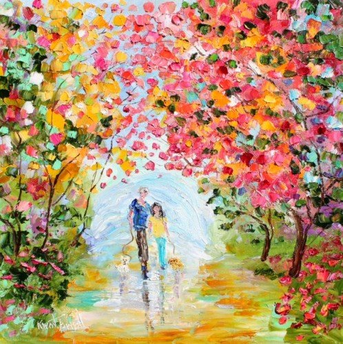 Painting Workshop: Palette Knife: Karen Tarlton's Couples Landscape