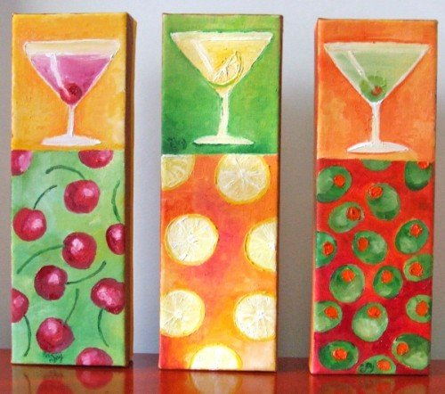 Painting Workshop: Three Canvas: Nicola Joyner's nJoy Martini Trio