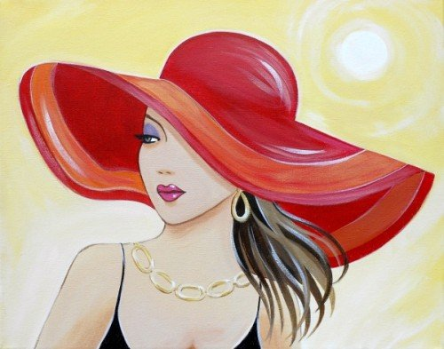 Painting Workshop: Diva in a Hat