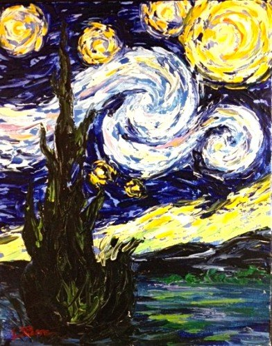 Painting Workshop: Palette Knife: Van Gogh Starry Night Palette Knife