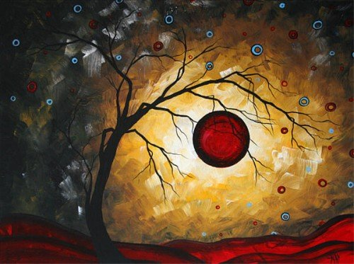 Painting Workshop: Red Moon - Original by Megan Duncanson©