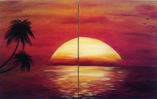 Painting Workshop: Couples Painting- Beach Sunset