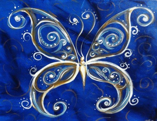 Painting Workshop: Blue Butterfly