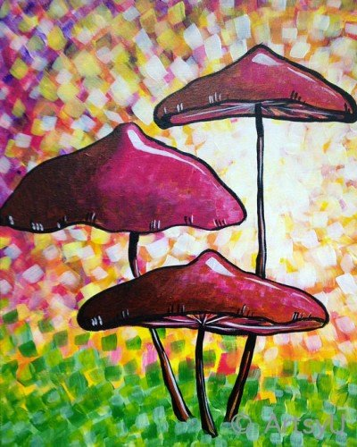 Painting Workshop: Mushrooms