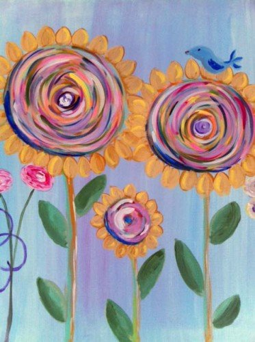 Painting Workshop: Swirly Flowers