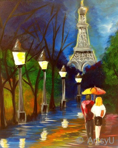 "Painting Workshop: Mimi's ""Night in Paris"""