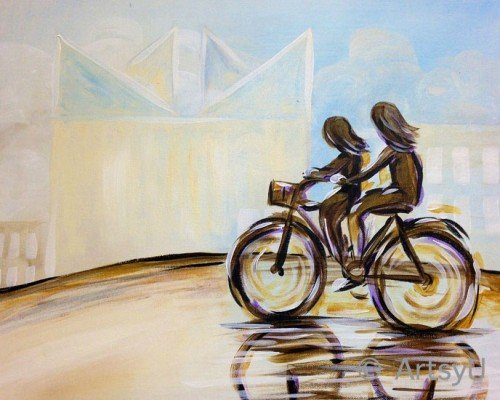 Painting Workshop: Bicycle Built for Two