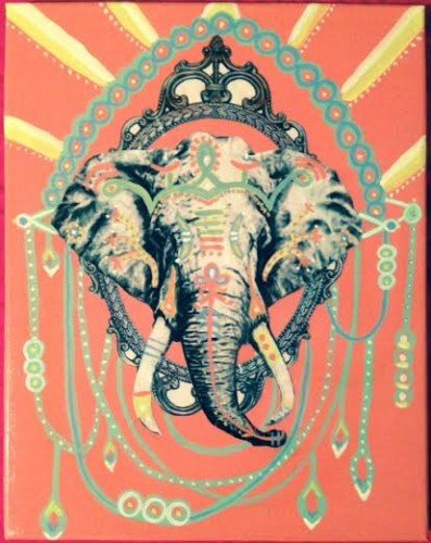 Painting Workshop: Boho Elephant