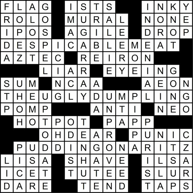 Crossword Solution: March 6, 2014