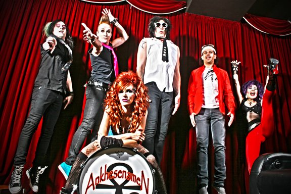Gretchen Bonaduce with band Ankh