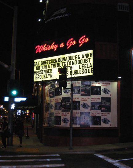 Ankh on the Whiskey marquee in Hollywood