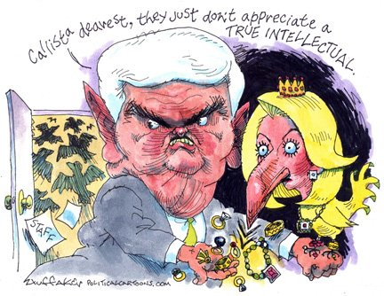 Sandy Huffaker - Newt Gingrich Cartoon