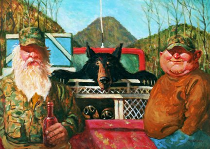 Sandy Huffaker - Still Life with Bear and Bubbas